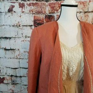 {LOFT} Rosé colored linen blazer